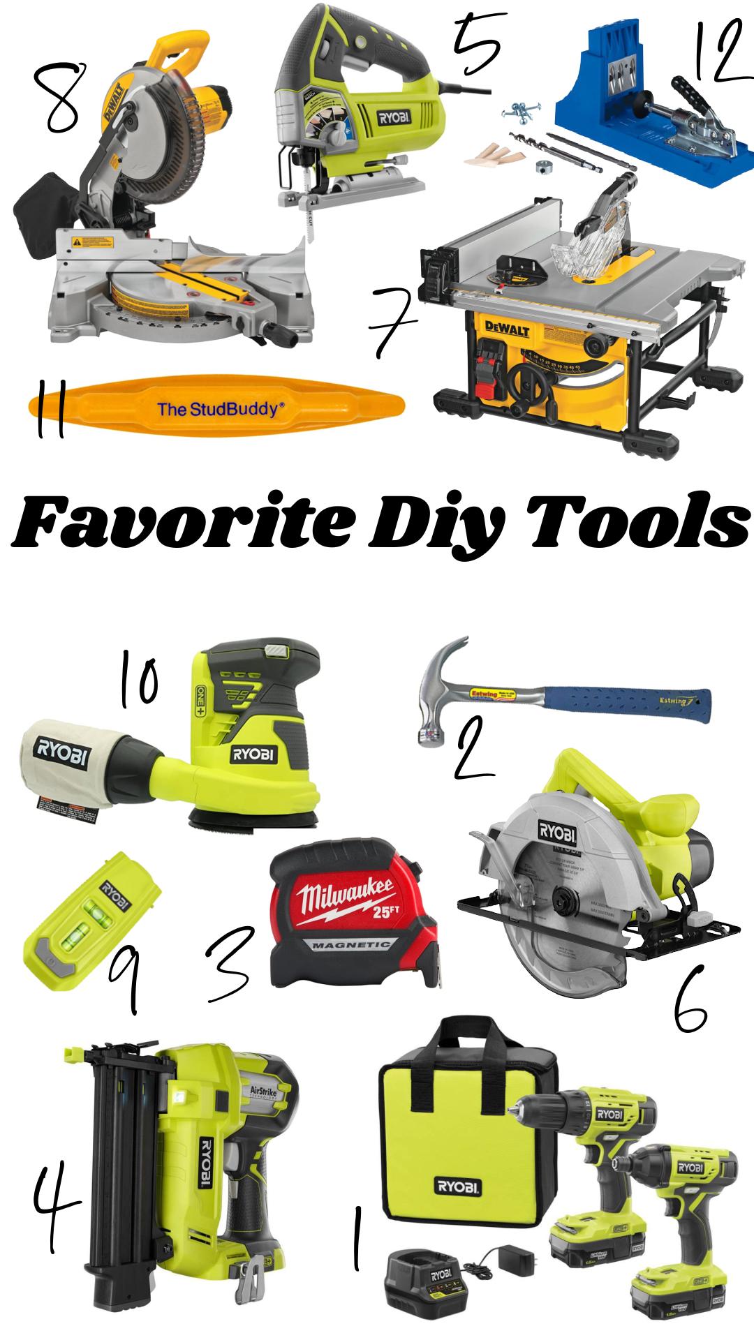 Favorite DIY Tools-  Must-have tools