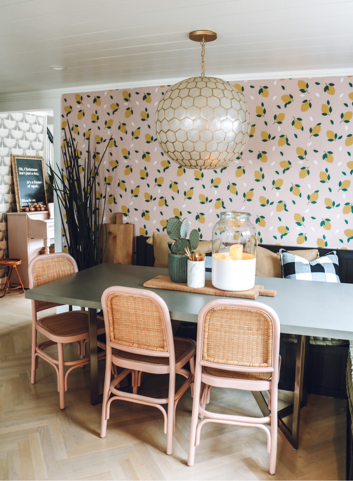 Removable Wallpaper Peel and stick Wallpaper Lemon Wallpaper affordable wallpaper
