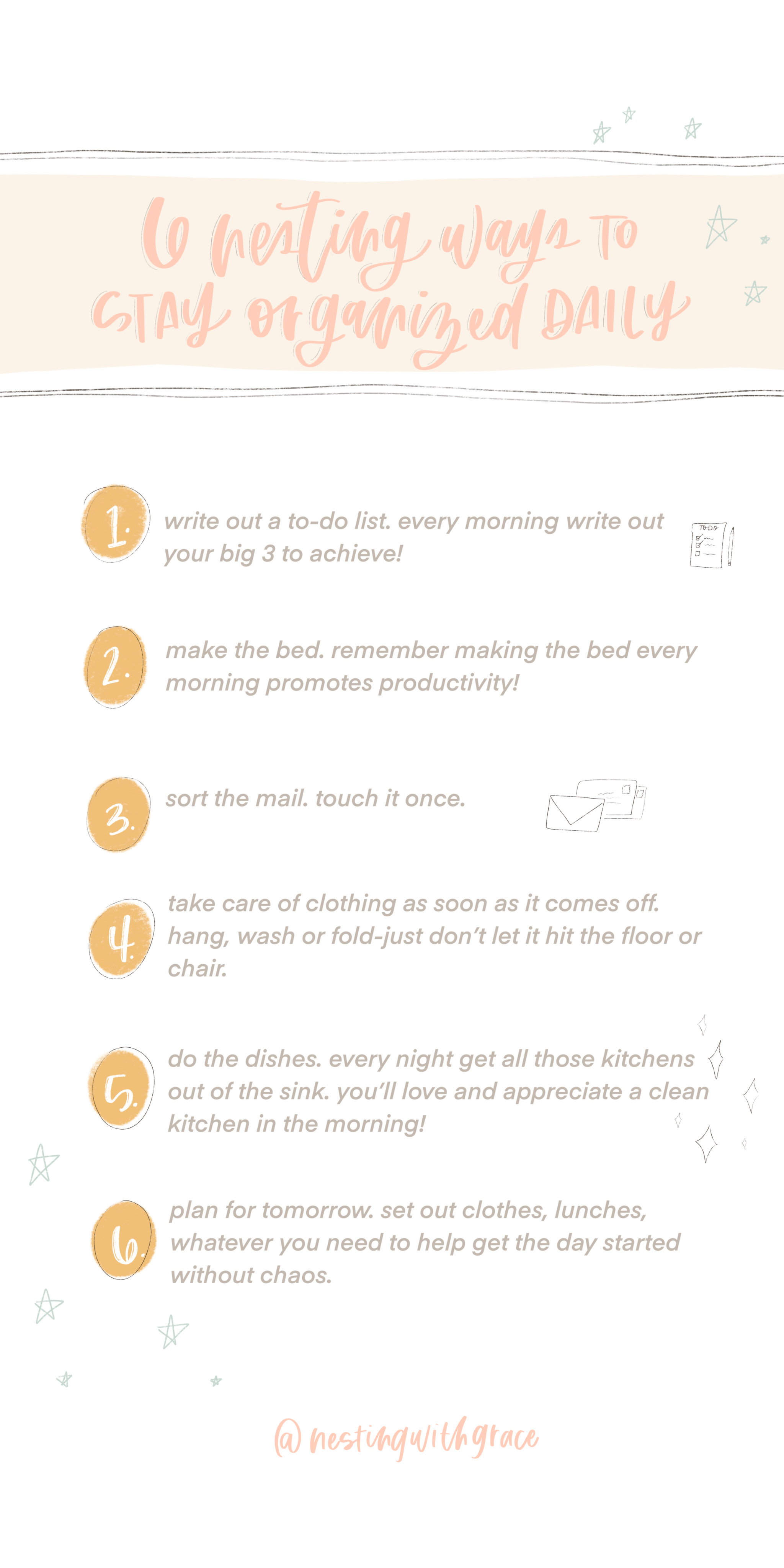 Let's Organize- Organizing Checklist By Room