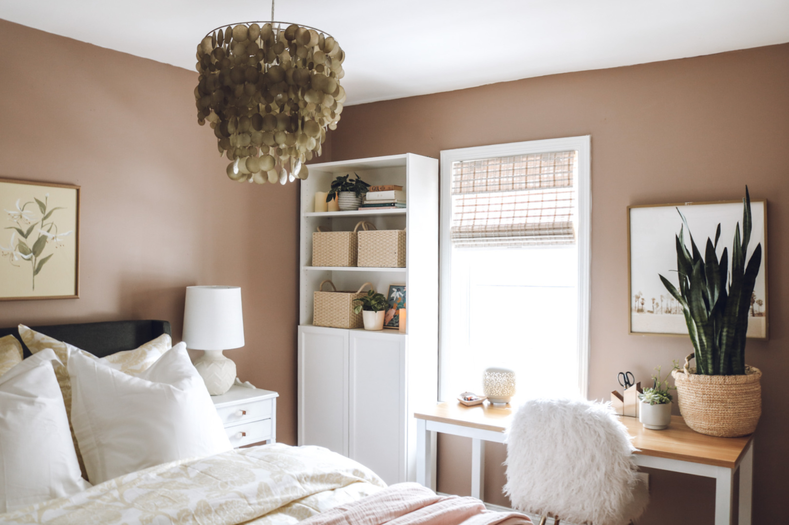 Bedroom Makeover with Salmon Walls