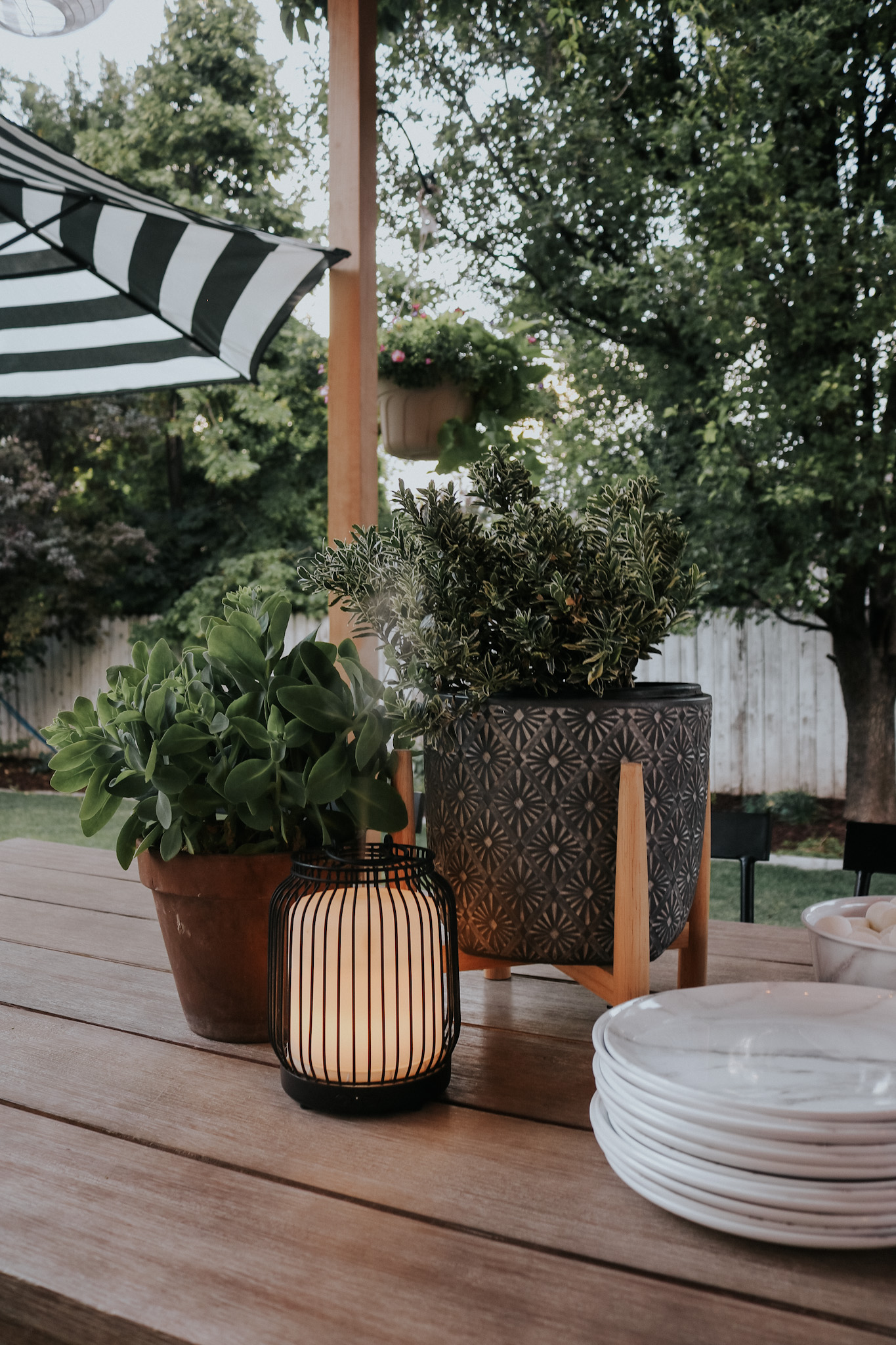 Affordable Backyard Ideas- Hanging Chairs, Sectional and More