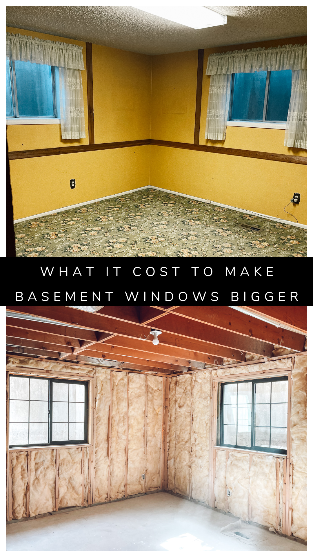 How we Made Basement Windows Bigger and Our New Windows making basement windows bigger