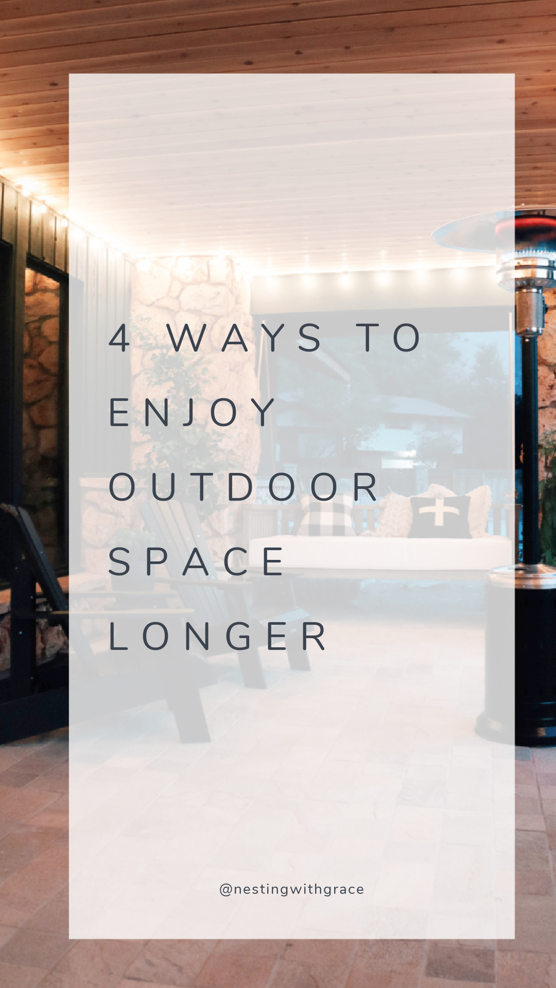 5 Ways to Enjoy Outdoor Space Longer How to hang string lights Outdoor heater