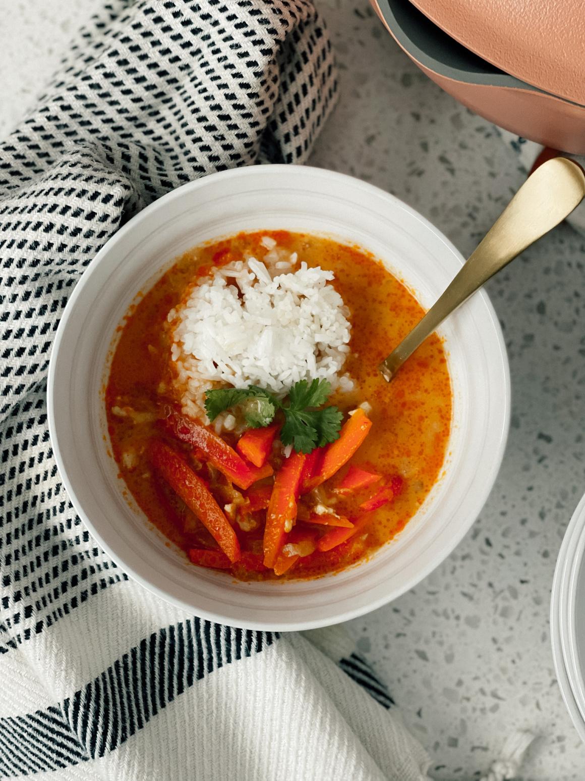 Thai Coconut Peanut Chicken Soup