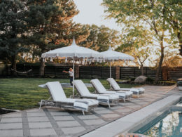 Backyard Pavers and Fiberglass Pool