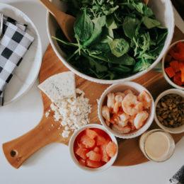 The Best Warm Shrimp Salad with Paleo Lemon Salad Dressing